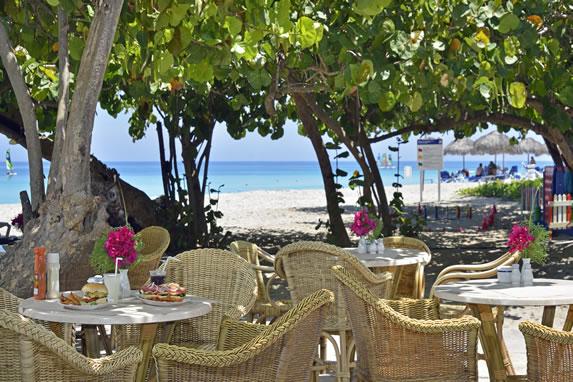 Beach bar at the hotel