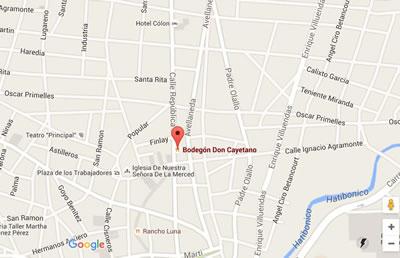 Restaurant Bodegón de Don Cayetano, Camaguey,map
