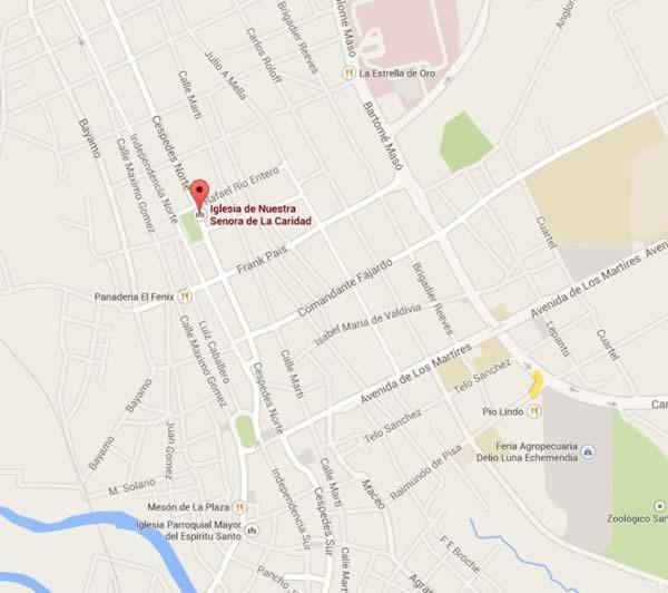 de la Caridad Parish Church, map,Santi Spiritus