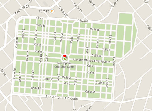 Colon Cemetery in Havana - MAP