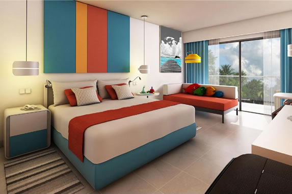 Colorful hotel double room