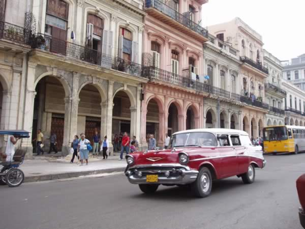 Old American Cars in Streets of Havana