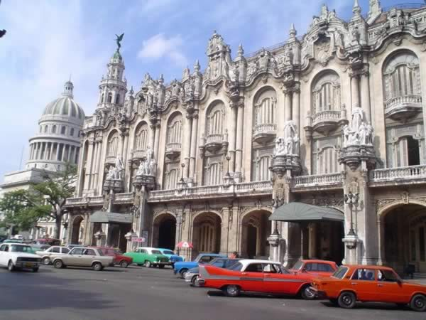 Great Theatre of Havana in Prado Avenue