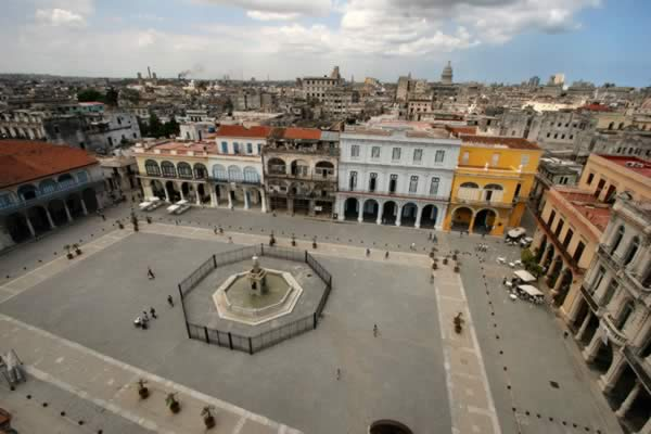 Aerial view of Old Square, Havana