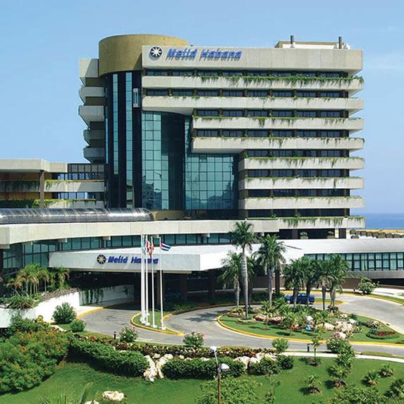 Facade of the hotel Melia Habana