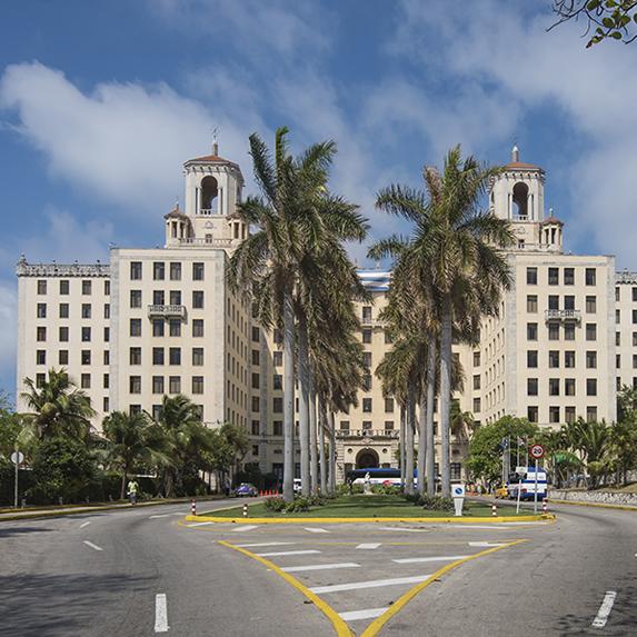 Vista de la fachada del hotel Nacional
