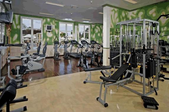 Treadmill in the hotel gym