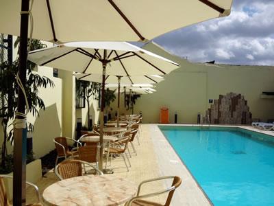 Pool of hotel América