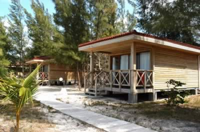 Cottages in the Hotel Cayo Levisa