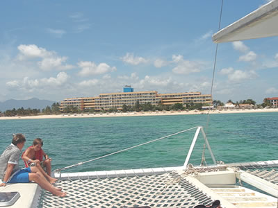 View from the beach of Hotel Club Amigo Ancón