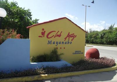 Entrada del Hotel Club Amigo Mayanabo