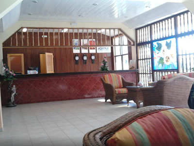 Recepción del Hotel Club Tropical
