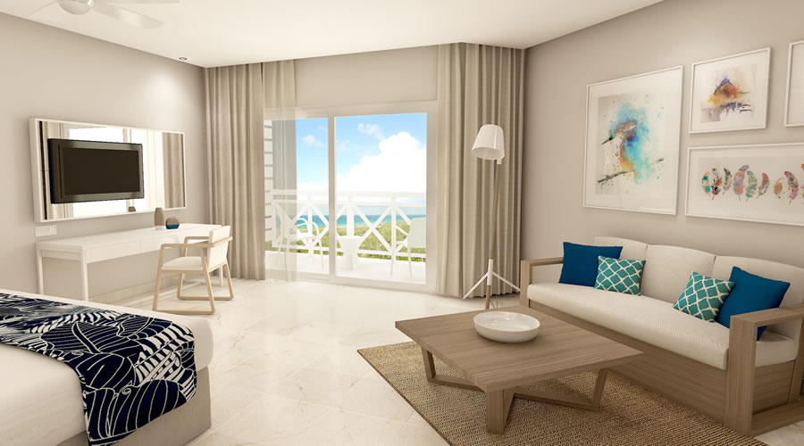 pictue of room with balcony with sea view