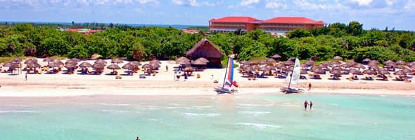 Vista aerea de la playa del Hotel Iberostar Taino