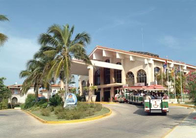 Facade of hotel Kawama in Varadero