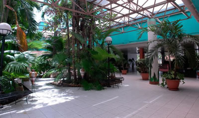 Hotel Kohly inner patio, Habana Hotels