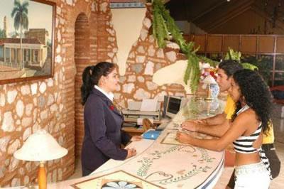 Reception of Hotel Las Cuevas