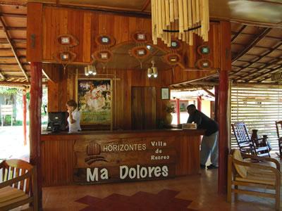 Recepción del Hotel Ma Dolores, Trinidad