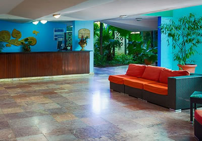 Lobby of Hotel Mar del Sur