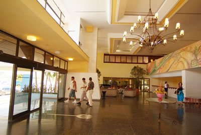 Lobby of hotel Neptuno-Tritón