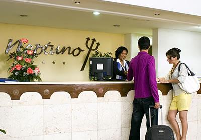 Reception of hotel Neptuno-Tritón