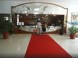 Recepción del hotel Pasacaballo