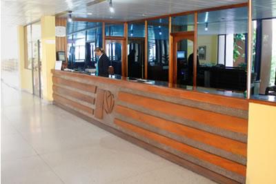 Front desk of hotel Pernik