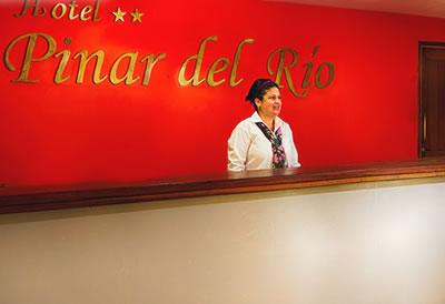 Front desk of hotel Pinar del Río