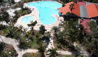 Hotel Playa Caleta Aerial view of the pool