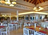 View of hotel restaurant buffet