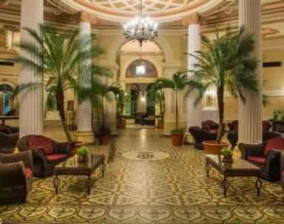 Lobby of hotel Plaza