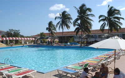Pool of hotel  Rancho Luna, Cienfuegos, Cuba
