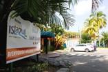 Entrance of hotel San Juan