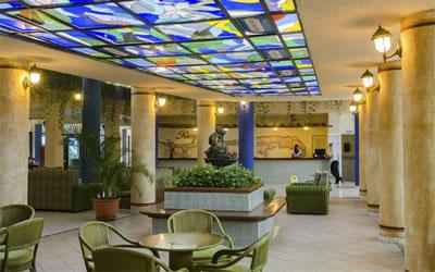 Lobby of hotel Sunbeach