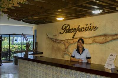Reception of hotel Sunbeach