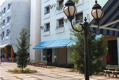 Facade of hotel Tulipán