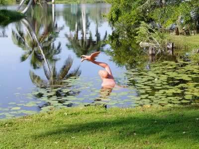 Lago del Hotel Villa Guamá, Península de Zapata