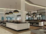 Buffet service area