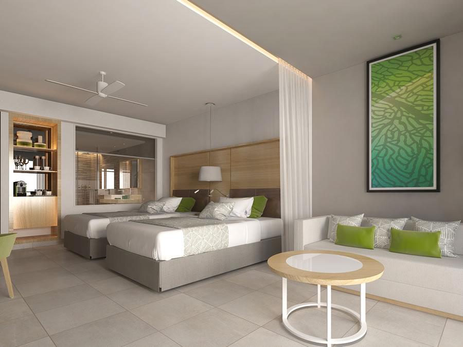 Foto de habitación del hotel con camas twin