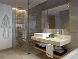 View of a bathroom and shower