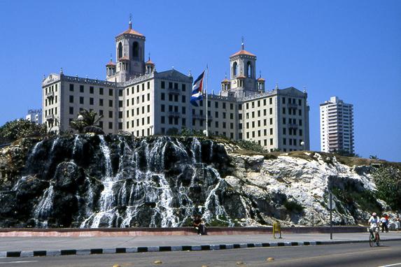 Vista del hotel Nacional de Cuba
