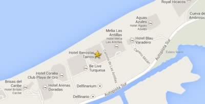 Hotel Iberostar Tainos - ubicacion