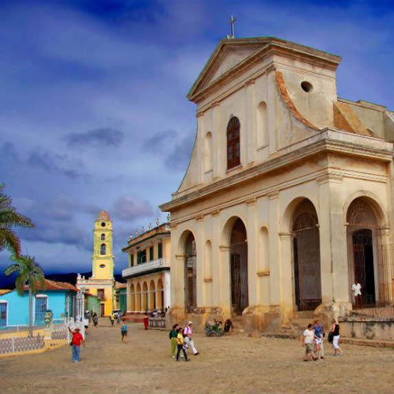 Facade of the main church of Sancti Spiritu