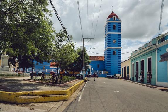 Square where the parish church is located