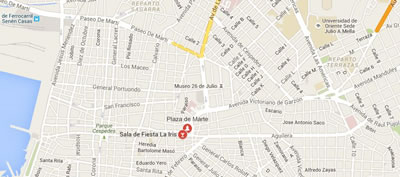 Iris Jazz club, Santiago de Cuba,mapa