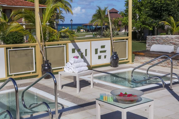Hotel hot tub area
