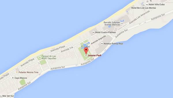 Restaurante La Gruta, varadero, Cuba, mapa