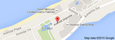 La comparsita, Varadero, Cuba,map