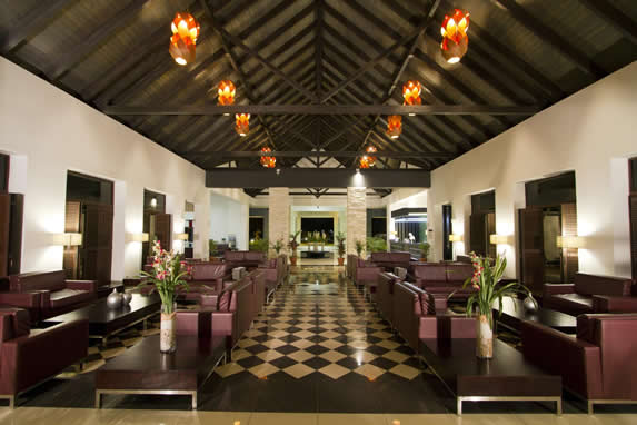 Hotel lobby view