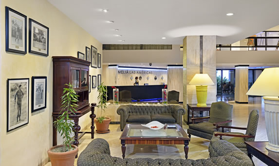 View of the lobby of the Melia Las Americas hotel